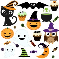Halloween cartoon icon vector material
