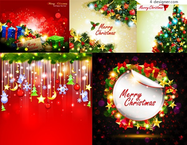 Happy Christmas vector material