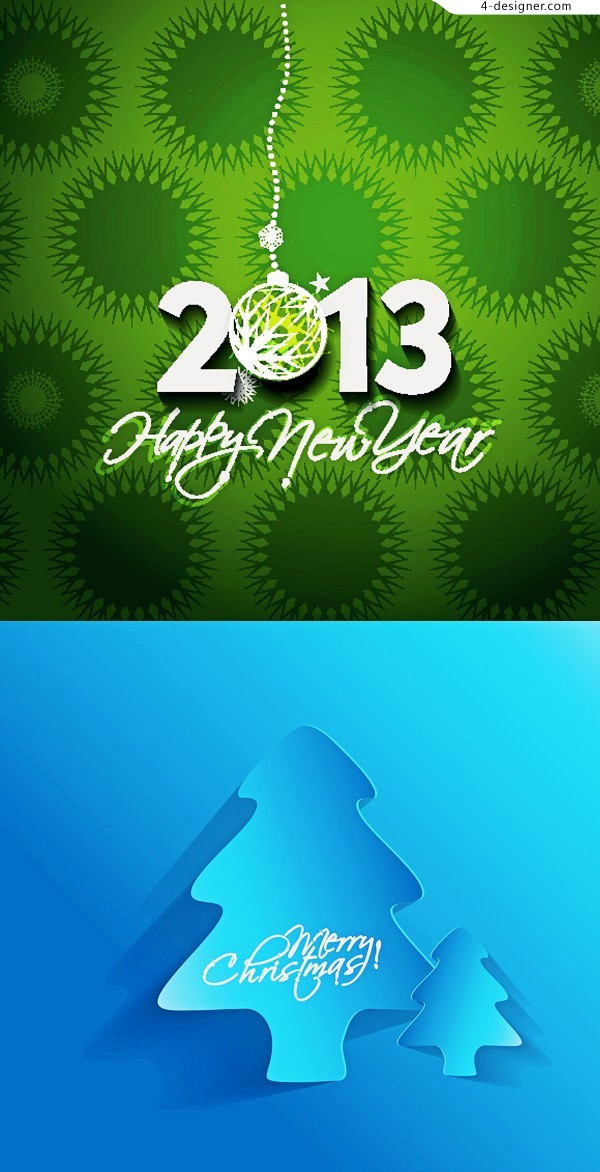 Happy New Year 2013 vector background