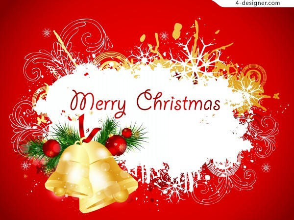 Red Christmas decoration vector material