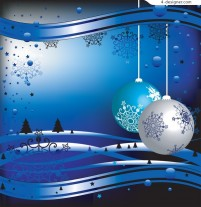 Several beautiful decorated Christmas ball background vector materials