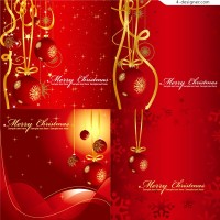 Several exquisite Christmas hanging ball vector materials