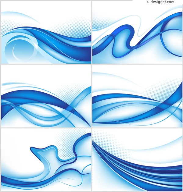 Simple blue dynamic lines background vector material