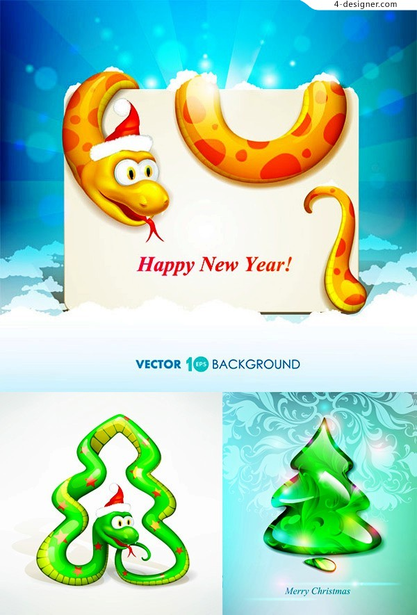 Snake cartoon vector material