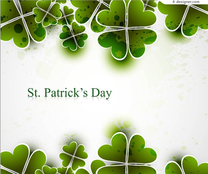 St Patrick s Day theme background vector material