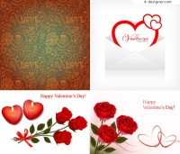 Valentine s Day elements card vector material