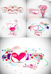 Valentine s Day love background vector material