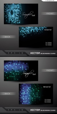 Vector material for designing cool business card