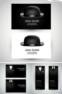 Vector material for designing creative gentleman business card