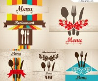 Vector material for designing creative menu cover