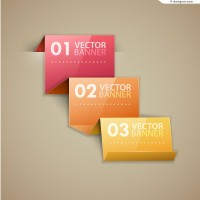 Vector material for designing fashion paper folding Information graph
