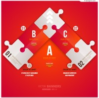 Vector material for designing fashion puzzle