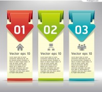 Vector material for designing modern label vertical banner