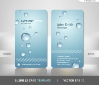 Vector material for designing personalized droplet business card