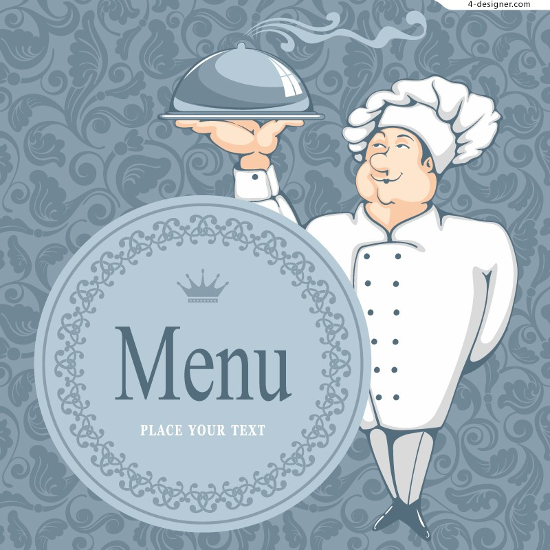 Vector material for designing personalized menu cover