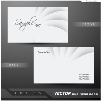Vector material for designing simple business card