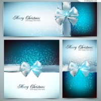 Vector material for designing textured blue bow card