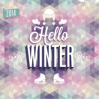 Vector material of 2014 abstract winter poster