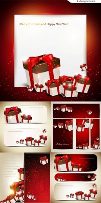 Vector material of Gift boxes card