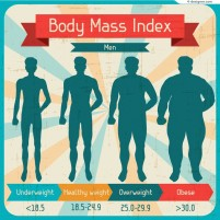 Vector material of Men s body mass index chart