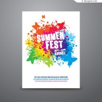 Vector material of Summer Fun poster
