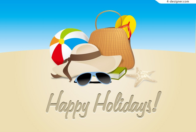 Vector material of Summer holidays poster