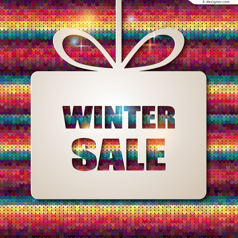 Vector material of Winter promotion poster
