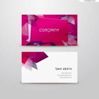 Vector material of abstract fashion business card