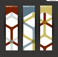 Vector material of abstract lines vertical banner