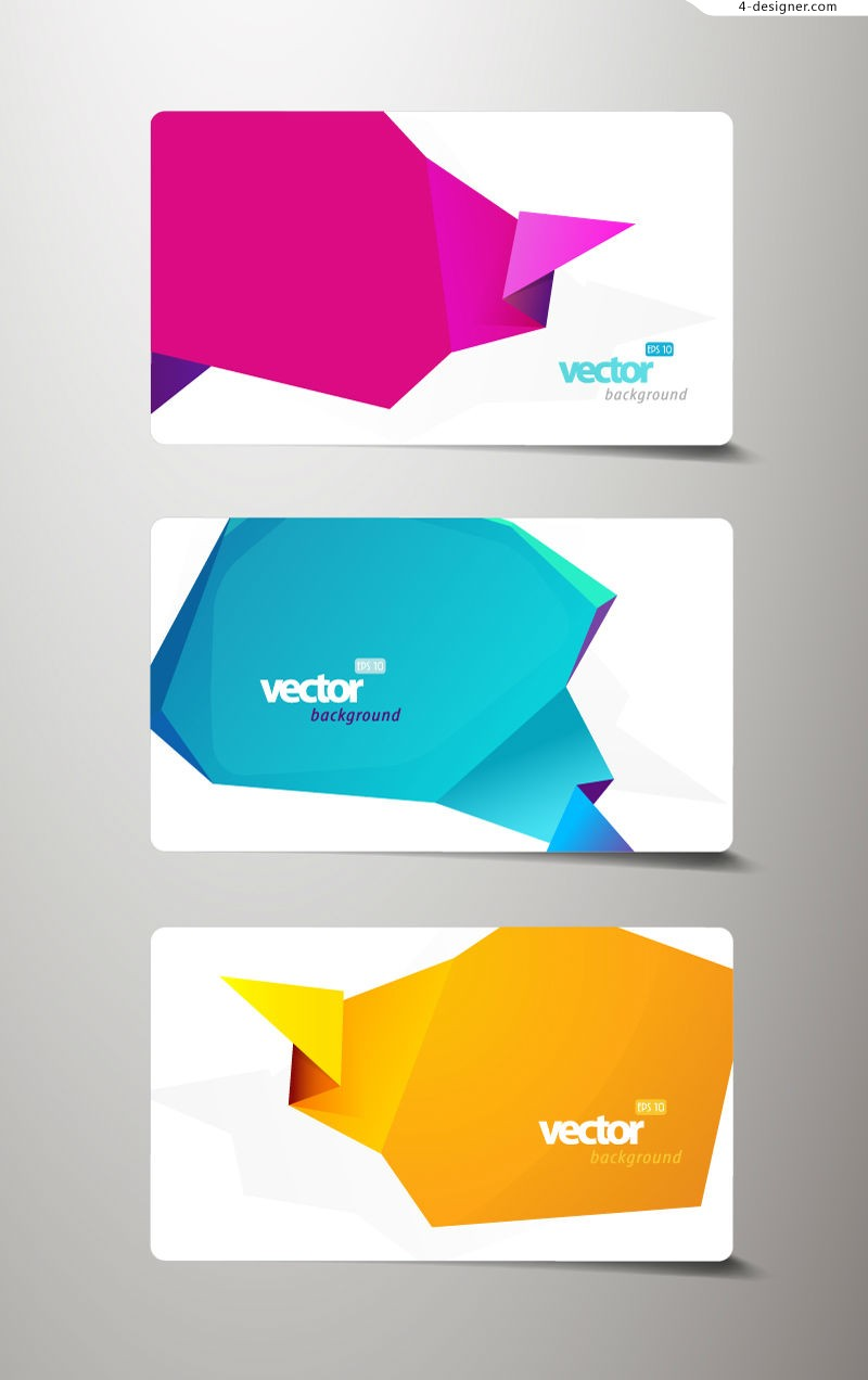 Vector material of banner decorated with weird folding paper