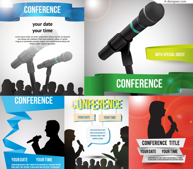 Vector material of beautiful conference poster