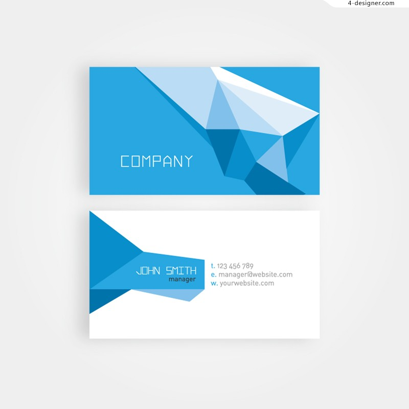 Vector material of blue geometric card