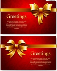 Vector material of bow blessing card