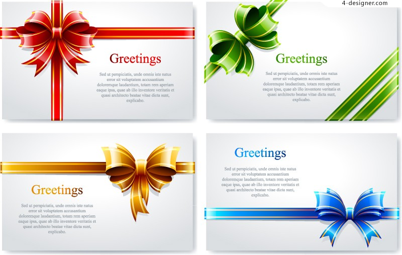 Vector material of color bow card