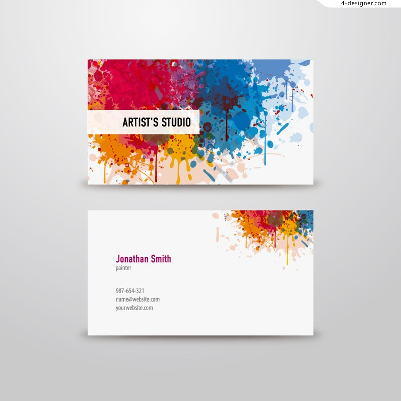 Vector material of color brushing card
