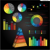Vector material of color information graph
