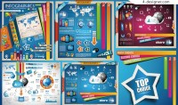 Vector material of colorful infographic