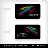 Vector material of cool fashion business card