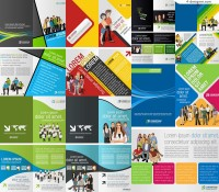 Vector material of creative European and American business album