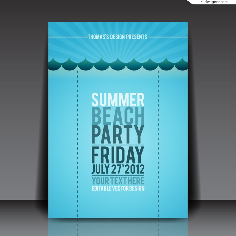 Vector material of creative beach resort promotional banner