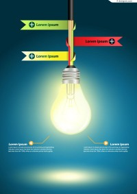 Vector material of creative bulb Information graph