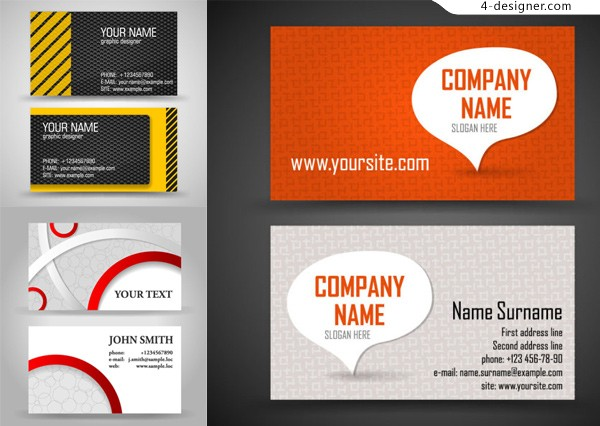 Vector material of creative business card