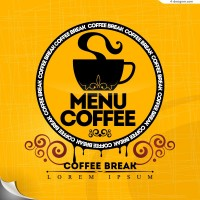 Vector material of creative coffee memu