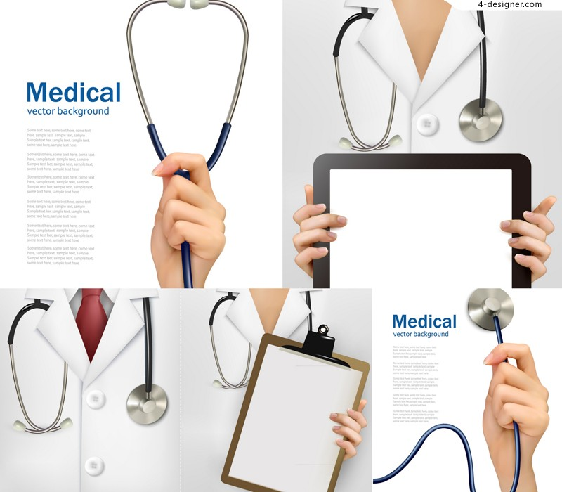 Vector material of creative medical poster