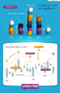 Vector material of creative statistical analysis chart