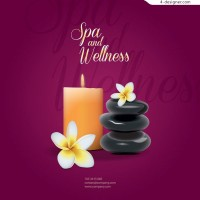 Vector material of exquisite spa background