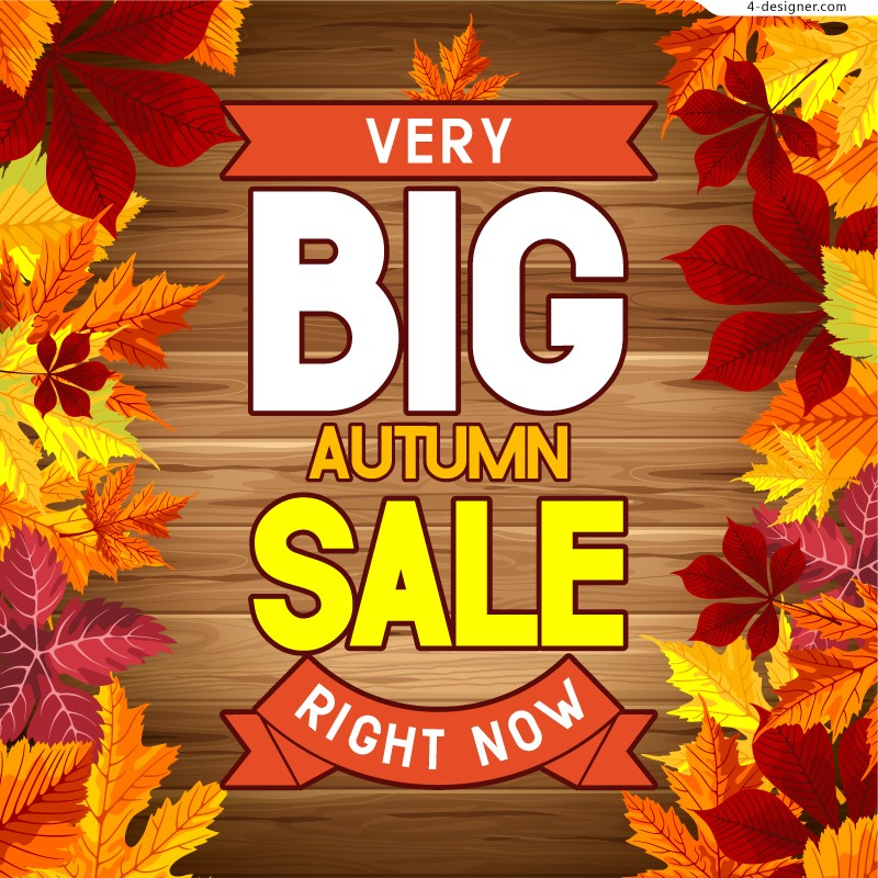 Vector material of fall promotion poster