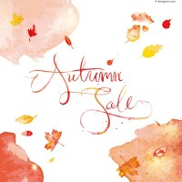 Vector material of fall watercolor sales poster
