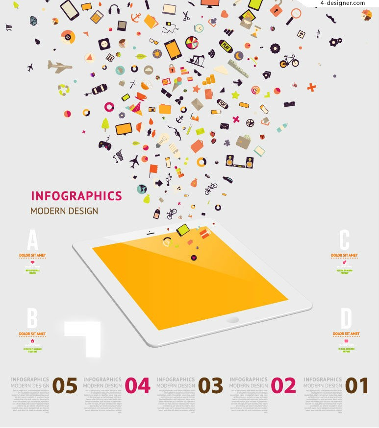 Vector material of fashion digital information graph