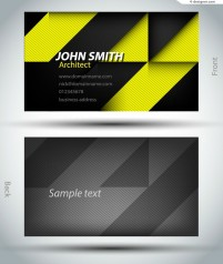 Vector material of fashion plaid business card